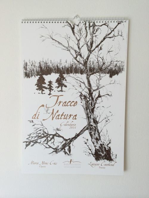 Calendario da parete con le poesie in dialetto di Luciano Cecchinel e le opere di Maria Nives Cais.