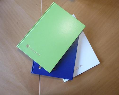 Agende con copertine di diversi colori