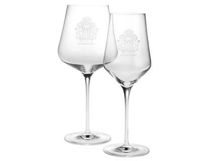 Bicchiere da vino inciso con la marcatura laser