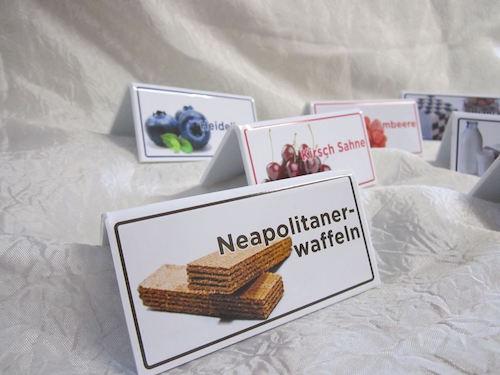 Segnagusti con etichetta personalizzata in PVC
