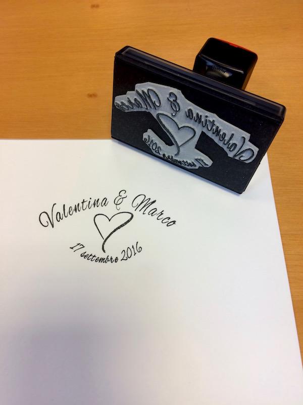 Timbro personalizzato per sposi